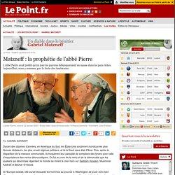 Matzneff : la prophétie de l'abbé Pierre