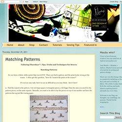 Matching Patterns