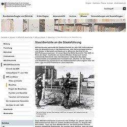 BStU - Mauerbau - Berichte an die Staatsführung