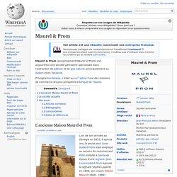 1831 création Maurel & Prom à Gorée