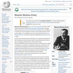 Maurice Merleau-Ponty - Wikipedia