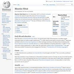 Maurice Nivat - Wikipedia