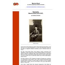 Maurice Ravel - Biographie - forumopera.com