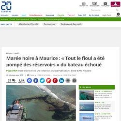 Marée noire à Maurice : « Tout le fioul a été pompé des réservoirs » du bateau échoué Le 12 août 2020