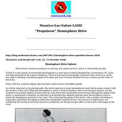 Maurice-Luc-Valere Lame: Hemisphere Drive