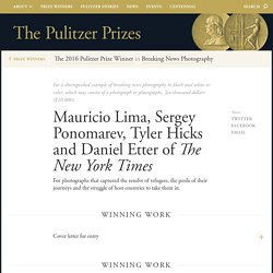 Mauricio Lima, Sergey Ponomarev, Tyler Hicks and Daniel Etter of The New York Times - The Pulitzer Prizes