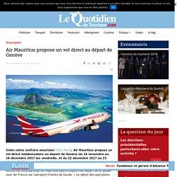 Air Mauritius propose un vol direct au départ de Genève