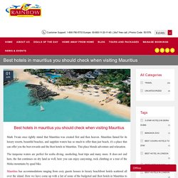 Best hotels in Mauritius and resort 5 star 4 star and 3 star