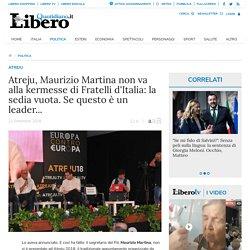 Atreju, Maurizio Martina non va alla kermesse di Fratelli d'Italia: la sedia vuota. Se questo è un leader... - Libero Quotidiano