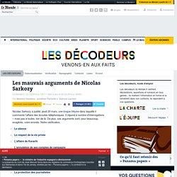 Les mauvais arguments de Nicolas Sarkozy