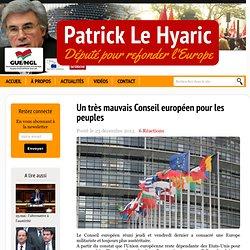 Un très mauvais Conseil européen pour les peuples