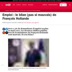 Emploi : le bilan (pas si mauvais) de François Hollande