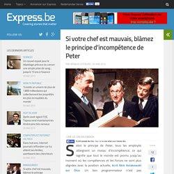 Si votre chef est mauvais, blâmez le principe d'incompétence de Peter