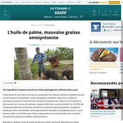 LE FIGARO 10/02/11 L'huile de palme, mauvaise graisse omniprésente