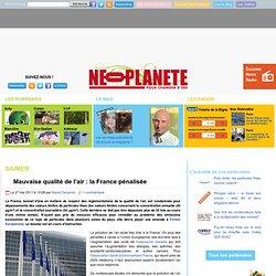 Mauvaise qualité de l'air : la France pénalisée