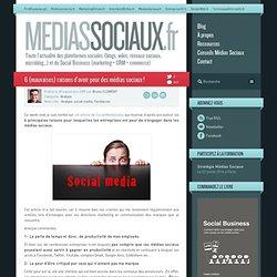Médias sociaux > 6 (mauvaises) raisons d'avoir peur des médias s