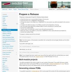 Maven Release plugin - Prepare a Release