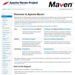 Maven - Welcome to Apache Maven
