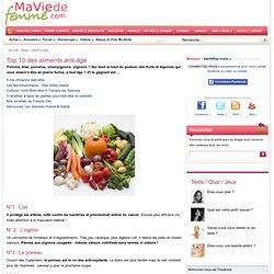 Top 10 des aliments anti-âge