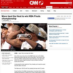 Mavs beat the Heat to win NBA championship