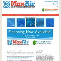 Max-Air | High Pressure Air Compressor, Breathing Air compressor, scuba air compressor