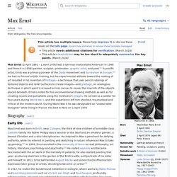 L'Ange du Foyeur - Max Ernst