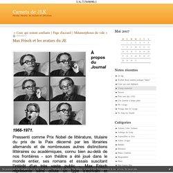 Max Frisch et les avatars du JE