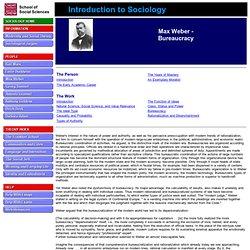 Max Weber - Bureaucracy