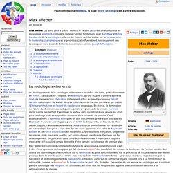 1864-1920 Max Weber sociologue allemand