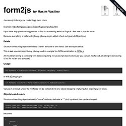 maxatwork/form2js @ GitHub