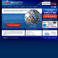 MaxBounty - Highest Paying CPA Campaigns