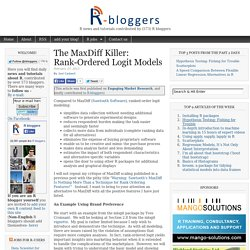 The MaxDiff Killer: Rank-Ordered Logit Models