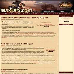 MaxDPS.com - World of Warcraft Gear Rankings - News