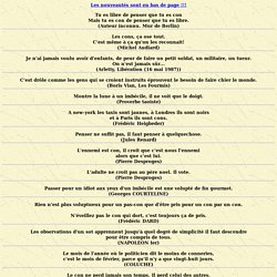 MAXIMES, CITATIONS et PROVERBES : les cons...