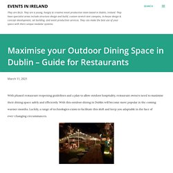 Maximise your Outdoor Dining Space in Dublin – Guide for Restaurants