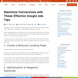 Maximize Conversions with These Effective Google Ads Tips