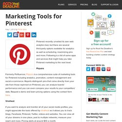 Third-Party Tools to Maximize Pinterest Marketing