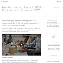 Best Practices and Trends in SEO for Expanding Your Business in 2017