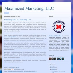 Harnessing SMO as a Marketing Tool