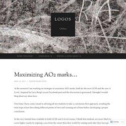 Maximizing AO2 marks…