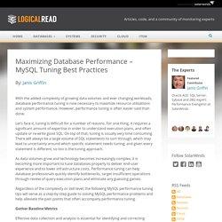 Maximizing Database Performance – MySQL Tuning Best Practices