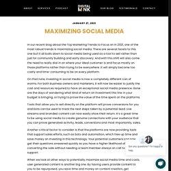 Maximizing Social Media