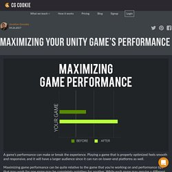 Maximizing Your Unity Game's Performance