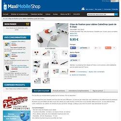 Clips de fixation pour câbles CableDrop (pack de 6 clips) : MaxiMobileShop la boutique d'accessoires pour Téléphones Mobiles, Smartphones et Tablettes Tactiles