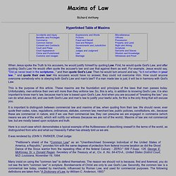 Maxims of Law