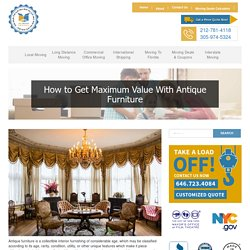 How to Get Maximum Value By Buying Antique Furniture