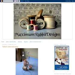 Thread Reel Button Stamps