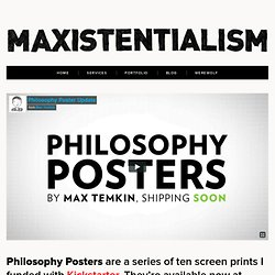 Philosophy Posters | Maxistentialism