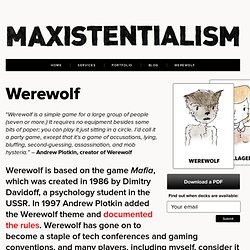Maxistentialism