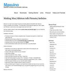 Maxuino Getting Started
